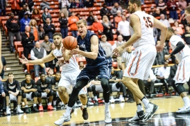 Petr Herman LMU men's basketball regular season finale at Pacific Feb. 25, 2017
