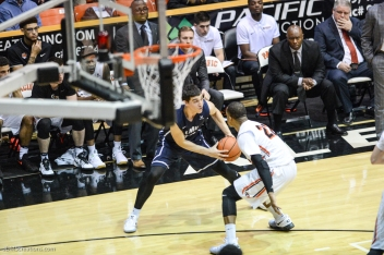 Steven Haney LMU men's basketball regular season finale at Pacific Feb. 25, 2017