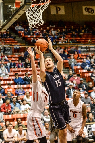Stefan Jovanovic LMU men's basketball regular season finale at Pacific Feb. 25, 2017