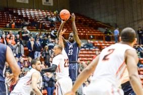Buay Tuach LMU men's basketball regular season finale at Pacific Feb. 25, 2017