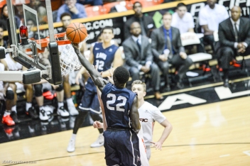 Buay Tuach LMU men's basketball regular season finale at Pacific Feb. 25, 2017