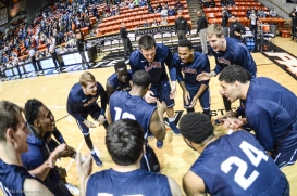 Team-LMU men's basketball regular season finale at Pacific Feb. 25, 2017