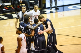 Team LMU men's basketball regular season finale at Pacific Feb. 25, 2017