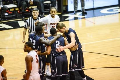 Team LMU men's basketball regular season finale at Pacific Feb. 25, 2017