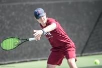 Luke Bohuslav LMU men's tennis vs. Lamar Mar. 15, 2017