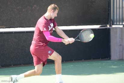 Nick Borchenko LMU men's tennis vs. Lamar Mar. 15, 2017