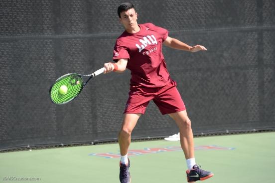 Gabriel Diaz Freire LMU men's tennis vs. Lamar Mar. 15, 2017