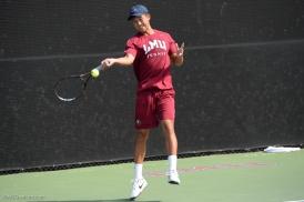 Cartier Juan LMU men's tennis vs. Lamar Mar. 15, 2017