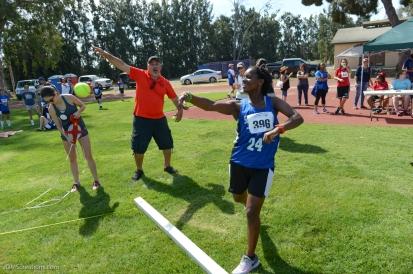 Special Olympics Southern California LA/SGV Pomona Area Games April 22, 2017 South Bay softball throw athlete