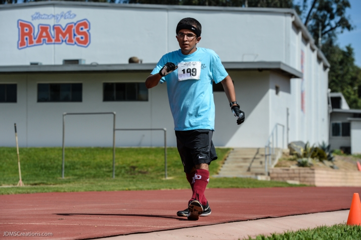 Special Olympics Southern California LA/SGV Pomona Area Games April 22, 2017 Edward Garcia, walk athlete and Global Messenger, from East San Gabriel Valley