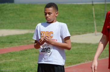 Special Olympics Southern California LA/SGV Pomona Area Games April 22, 2017 USC athlete gets prepared before his first race