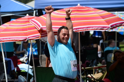 Special Olympics Southern California LA/SGV Pomona Area Games April 22, 2017 San Gabriel athlete is all smiles after 50-yard dash