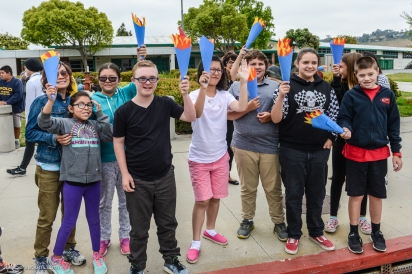 Special Olympic Southern California LETR Final Leg - Central Route - Monday, June 5, 2017 Torrance Police Department supported by students at Calle Mayor Middle School