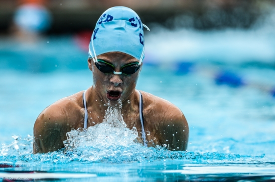 Culver City High School Swimming vs. Beverly Hills at Culver City Plunge on Apr. 27, 2017