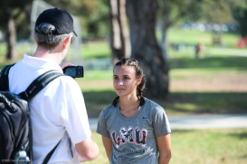 Danielle Shanahan interviewed after winning LMU Cross Country at Mark Covert Classic - Brea, CA - Carbon Canyon Regional Park - Sept. 2, 2017