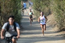 After a mile on the back half of the course, Danielle Shanahan emerges in complete control of the race.