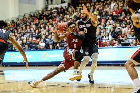 James Batemon LMU men's basketball vs. Gonzaga - Jan. 6, 2018