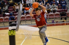 Contestant of youth dunk contest halftime homecoming game LMU Men's Basketball vs. Portland - Jan. 20, 2018