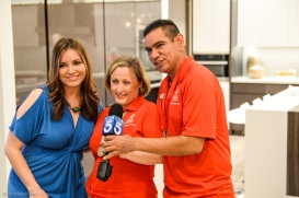 KTLA's Erin Myers with athletes Debi and Gerardo De La Cerda SoCal Dream House Raffle Media Day - Hollywood Hills - Jan. 29, 2018