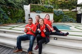 Athletes Kyla Schilz, Gerardo De La Cerda, Kimmy Boyett & Debi Anderson at SoCal Dream House Raffle Media Day - Hollywood Hills - Jan. 29, 2018