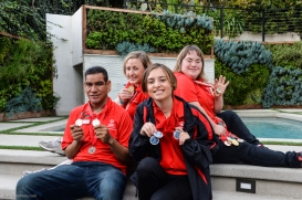 Athletes Kyla Schilz, Gerardo De La Cerda, Kimmy Boyett & Debi Anderson at SoCal Dream House Raffle Media Day - Hollywood Hills - Jan. 29, 2018