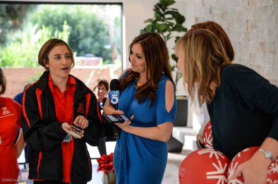 KTLA's Erin Myers with athlete Kyla Schilz SoCal Dream House Raffle Media Day - Hollywood Hills - Jan. 29, 2018