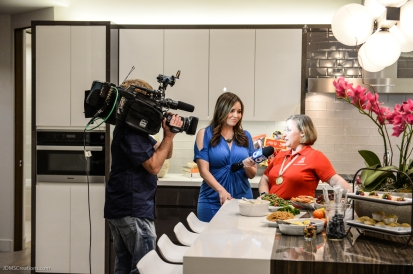 KTLA's Erin Myers with Debi Anderson SoCal Dream House Raffle Media Day - Hollywood Hills - Jan. 29, 2018