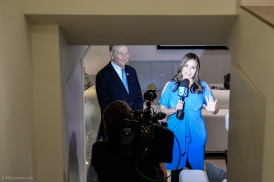 KTLA's Erin Myers with Bill Shumard SoCal Dream House Raffle Media Day - Hollywood Hills - Jan. 29, 2018