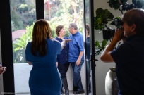 KTLA's Erin Myers in final segment with parents of Gerardo De La Cerda getting on TV SoCal Dream House Raffle Media Day - Hollywood Hills - Jan. 29, 2018