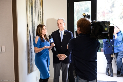 KTLA's Erin Myers with Bill Shumard in final segment SoCal Dream House Raffle Media Day - Hollywood Hills - Jan. 29, 2018