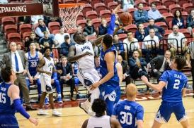 Eli Scott LMU men's basketball vs. BYU - Feb. 1, 2018