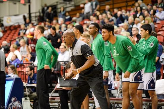 Pat Sandle Assistant Coach LMU men's basketball vs. BYU - Feb. 1, 2018