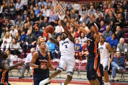Cameron Allen LMU men's basketball vs. Pepperdine - Feb. 10, 2018 - Family Weekend Game - PCH Cup