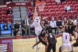 Mattias Markusson LMU men's basketball vs. Pacific - Senior Day - Feb. 24, 2018