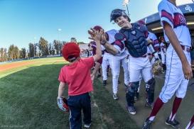 Loyola Law School Dean First Pitch Promotion Team Highfives LMU Baseball vs. San Francisco - Apr. 14, 2018