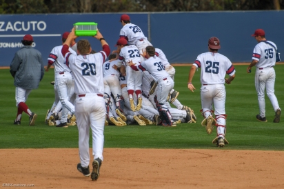 Team Celebration LMU baseball vs. Saint Mary's - May 20, 2018